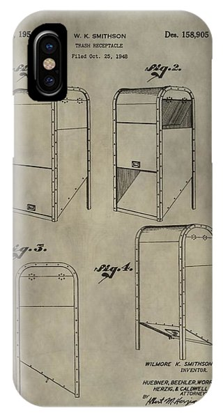 Trash Receptacle Patent IPhone Case