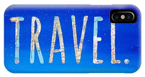 Travel iPhone Case - Travel Word Art by Michelle Eshleman