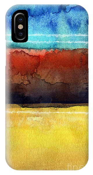 Abstract Landscape iPhone Case - Traveling North by Linda Woods