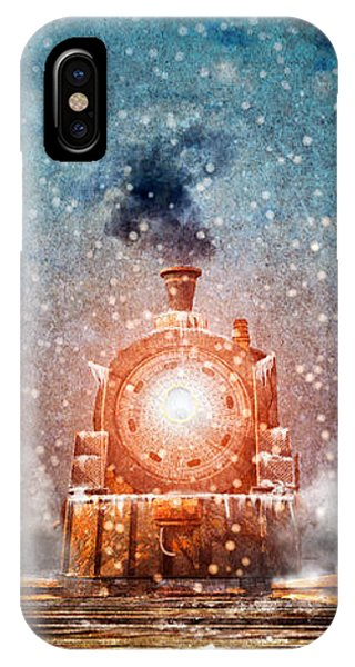 Winter iPhone Case - Traveling On Winters Night by Bob Orsillo