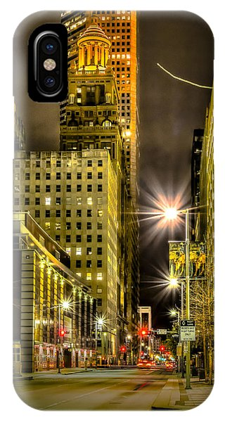 Travis And Lamar Street At Night IPhone Case