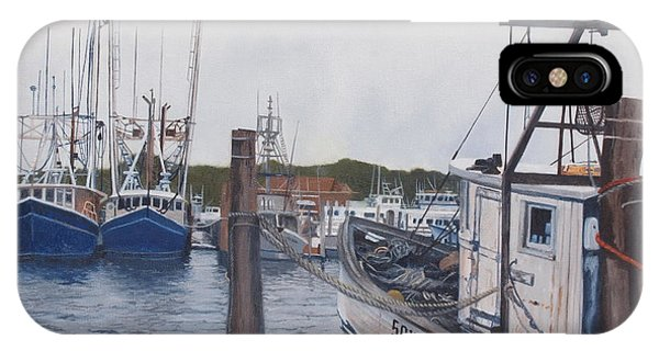 Trawlers At Gosman's Dock Montauk IPhone Case