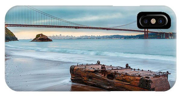 Smokey iPhone Case - Treasure And The Golden Gate Bridge by Sarit Sotangkur