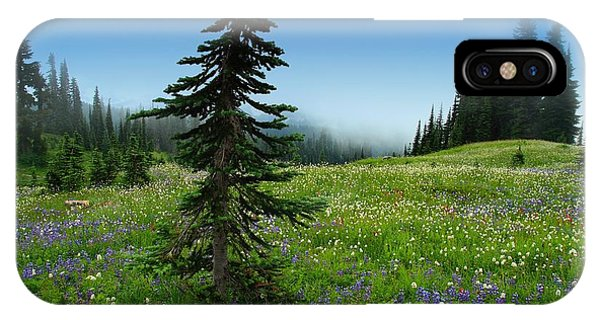 Tree Amongst Wildflowers IPhone Case