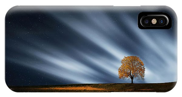 Tree At Night With Stars IPhone Case