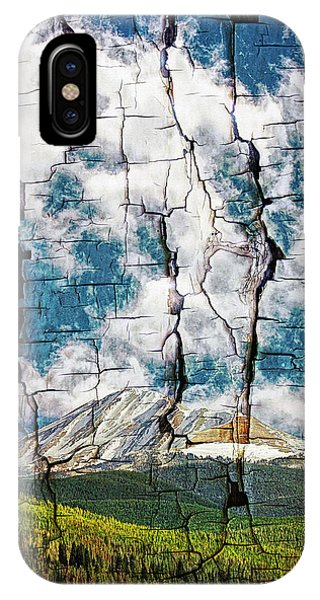 Tree Bark Mountain Tapestry IPhone Case