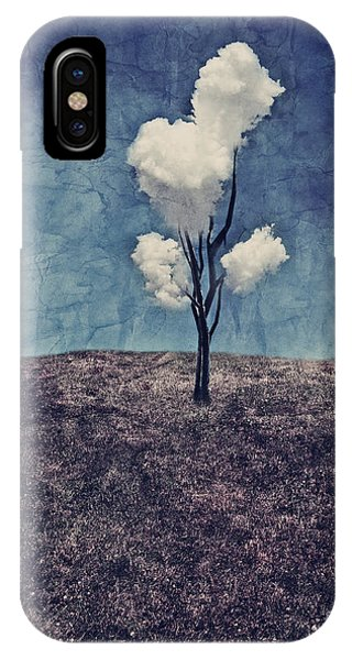 Tree Clouds 01d2 IPhone Case