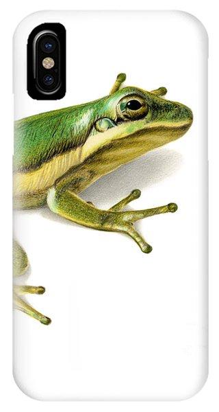 Hyper Realism iPhone Case - Green Tree Frog by Sarah Batalka