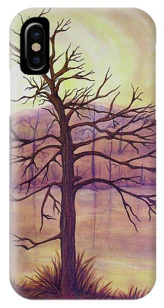 Tree In Gold Landscape Phone Case by Jan Wendt