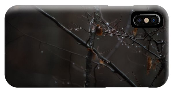 Tree Limb With Rain Drops 2 IPhone Case