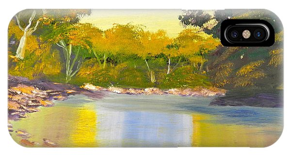 Tree Lined River IPhone Case