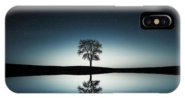 Tree Near Lake At Night IPhone Case