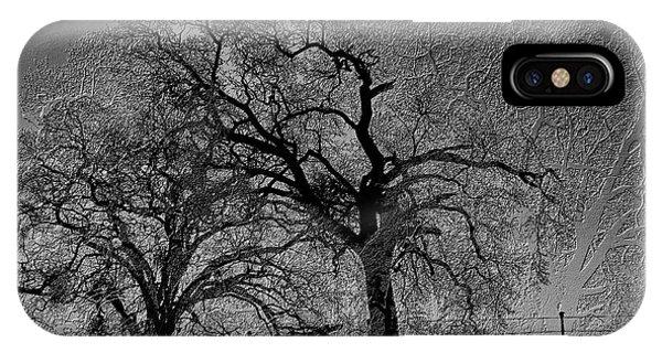 IPhone Case featuring the digital art Tree Night II by Visual Artist Frank Bonilla