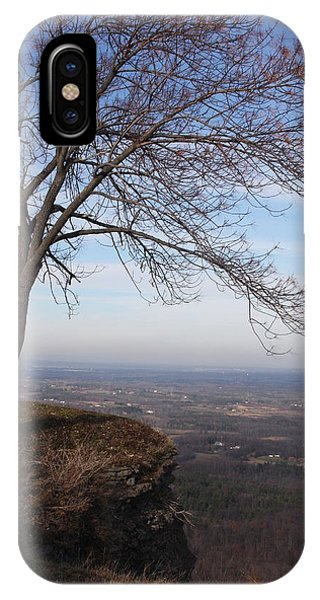 Tree On A Mountain Edge IPhone Case
