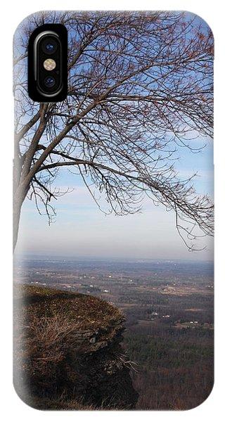 Tree On A Mountain Edge IPhone Case