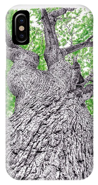 Tree Pen Drawing 4 IPhone Case