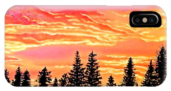 Tree Sunset IPhone Case