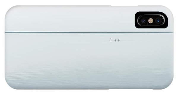 Swan iPhone X Case - Tree Svans by Viggo Johansen
