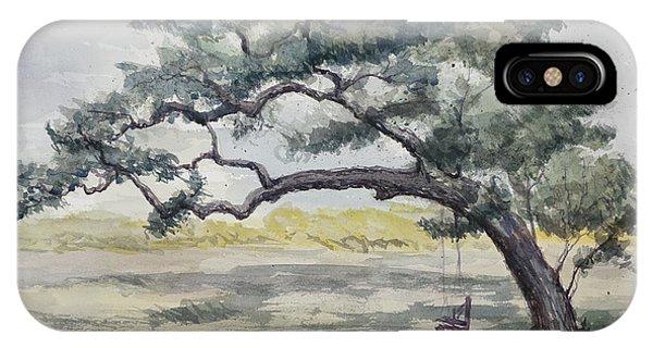Da187 Tree Swing Painting By Daniel Adams IPhone Case