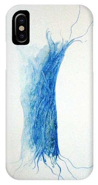 Tree Weaving In Blue IPhone Case