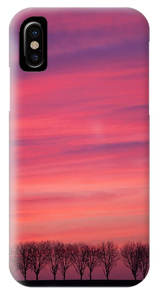 Treeline iPhone Case - Treeline At Sunset by Pascal Goetgheluck/science Photo Library