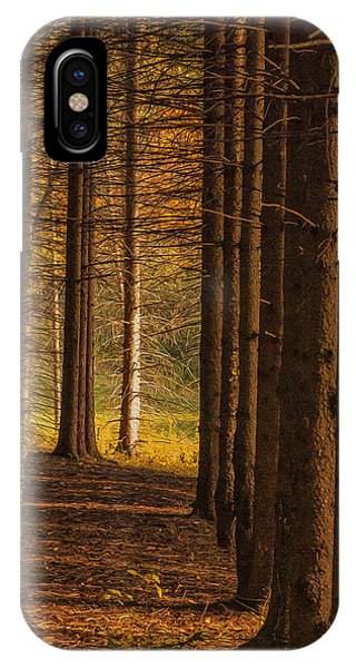 Digital Effect iPhone Case - Treeline  by Jack Zulli