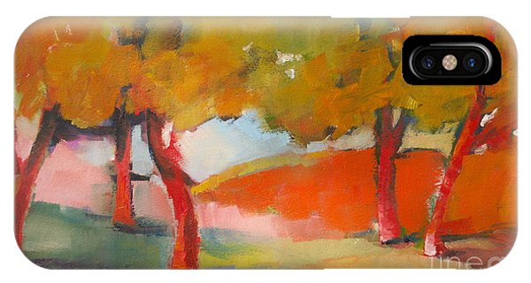 IPhone Case featuring the painting Trees #5 by Michelle Abrams