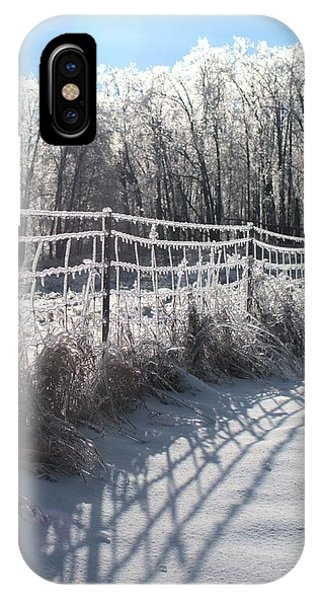 Trees And Fence IPhone Case