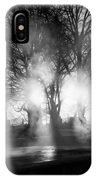 Trees And Fog Phone Case by David Pinsent