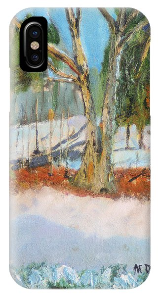 Trees And Snow Plein Air IPhone Case