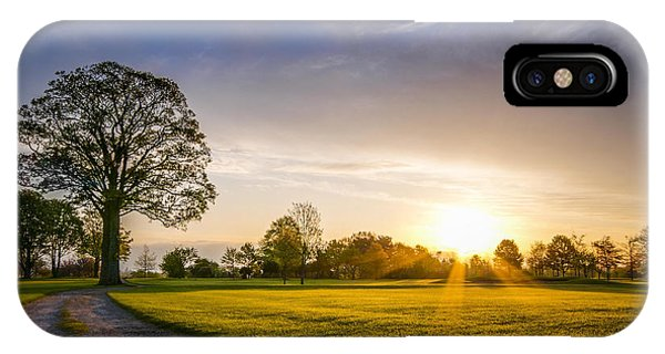 Trees At Dawn On Golf Course IPhone Case