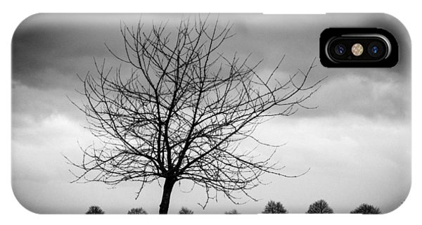 Trees Black And White IPhone Case