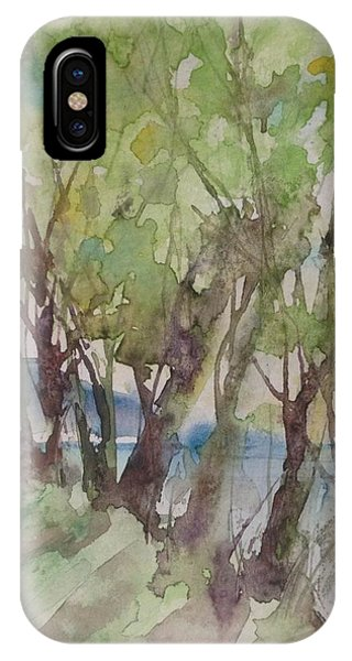 Trees In A Row IPhone Case