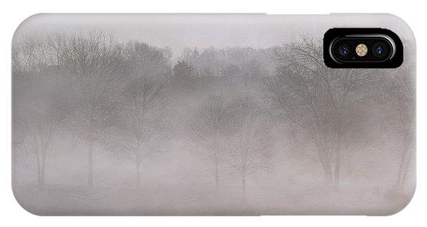 Trees In Fog Phone Case by Carol Erikson