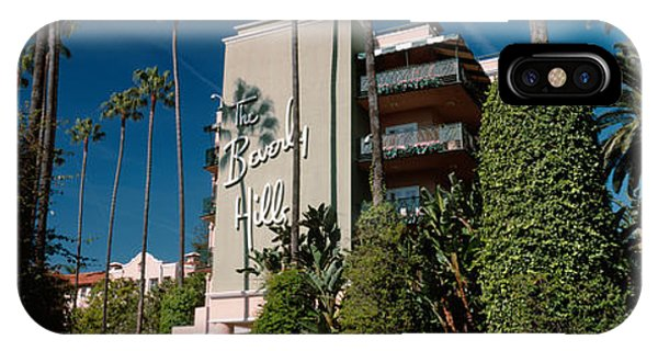 Beverly Hills iPhone Case - Trees In Front Of A Hotel, Beverly by Panoramic Images