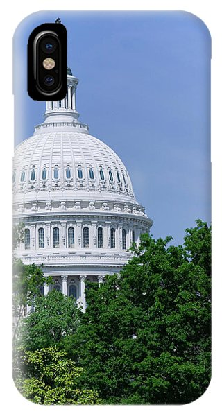 Capitol Building iPhone Case - Trees In Spring And U.s. Capitol Dome by Panoramic Images