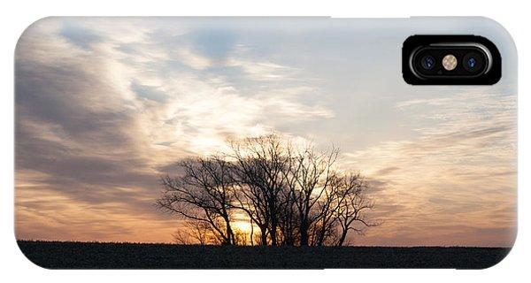 Trees In Sunrish IPhone Case