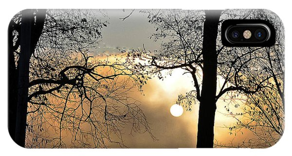 Trees On Misty Morning IPhone Case