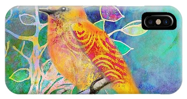 Watercolor iPhone Case - Treetops.. A #digitalcollage Of 2 by Robin Mead