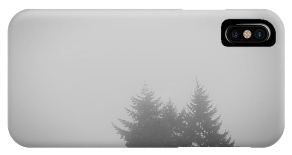 Treetops In Fog IPhone Case