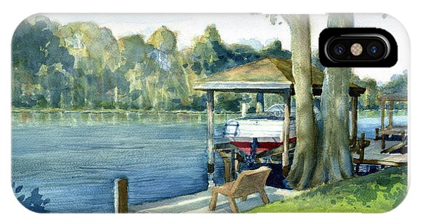 Trent River Boathouse IPhone Case