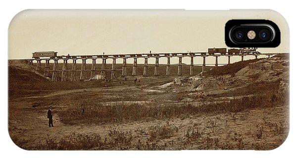 Trestle Bridge Near Fort Harker, Kansas Alexander Gardner IPhone Case