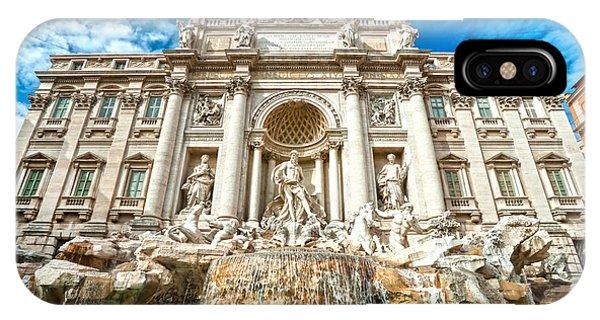 Trevi Fountain - Rome IPhone Case