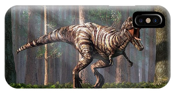 Trex In The Forest IPhone Case
