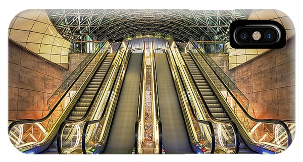 Triangeln Station Escalators IPhone Case