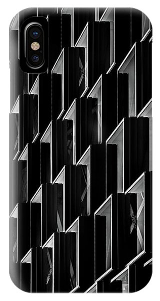 Facade iPhone Case - Triangle Offense by Theo Huybrechts