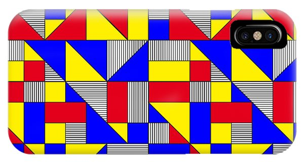 Primary Colors iPhone Case - Triangles And Squares Geometrical by Bard Sandemose