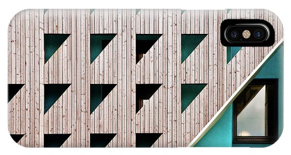 Buildings iPhone Case - Triangles by Linda Wride