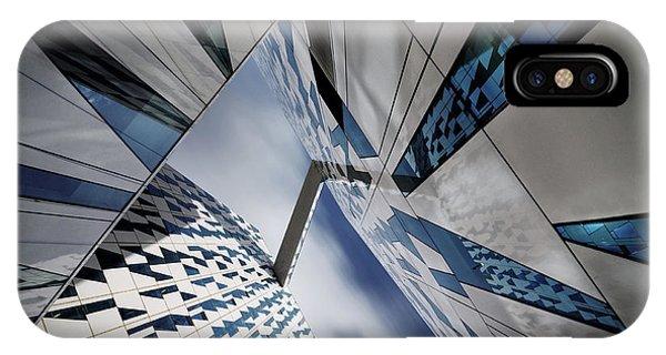 Reflection iPhone Case - Triangular Caleidoscope by Dan Clausen Hansen