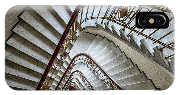 Staircase iPhone Case - Triangular by Renate Reichert